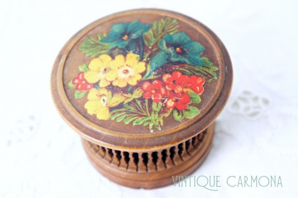 Flower Printed Wooden Case