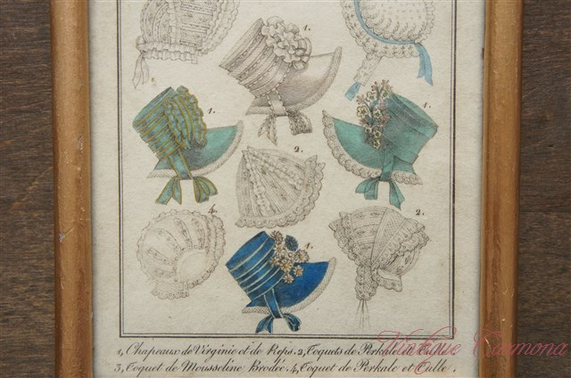 """Costumes Parisiens."" Fashion plate in New Frame"