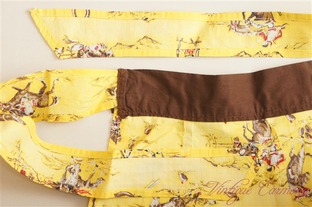 Cafe Apron Cowboy Fabric