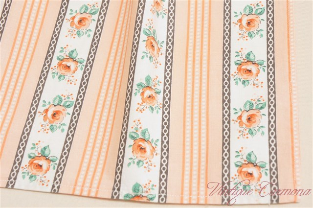 Pink Flower & Stripe Cafe Apron