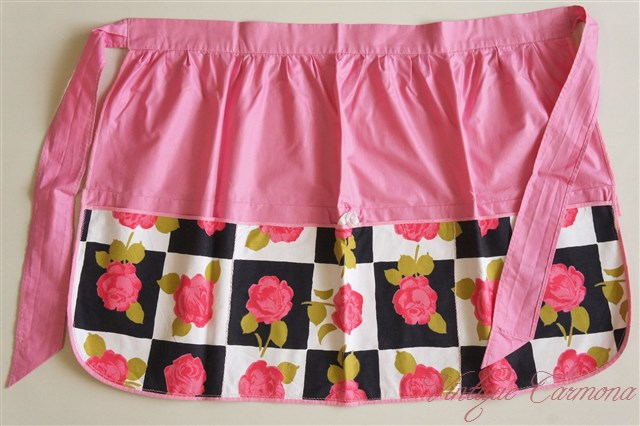 Pink Rose x Black & White Cafe Apron
