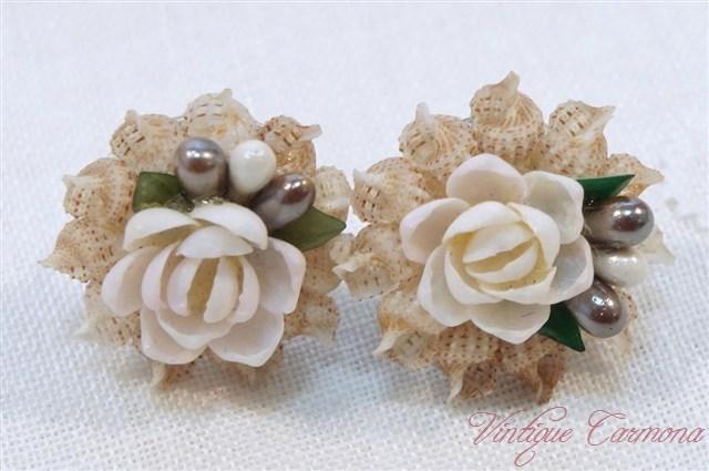 Shells Brooch with Matching Earrings