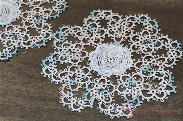 Tated Doilies 3 pcs Set