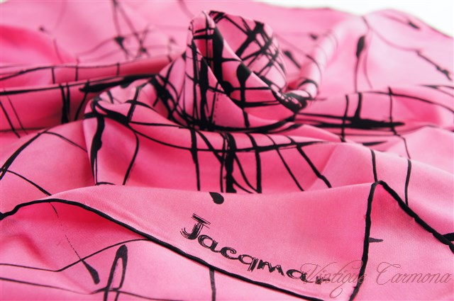 【Jacqmar】 Vivid Pink Scarf : Abstract