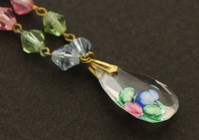 Pastel Color Glass beaded Necklace